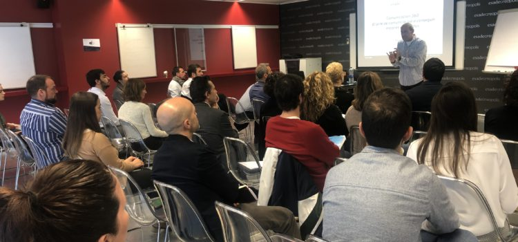 Master Class at ESADE Creapolis: 360° Communication to achieve better results.
